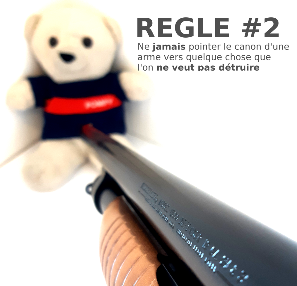 Deuxième des 4 règles de sécurité avec une arme