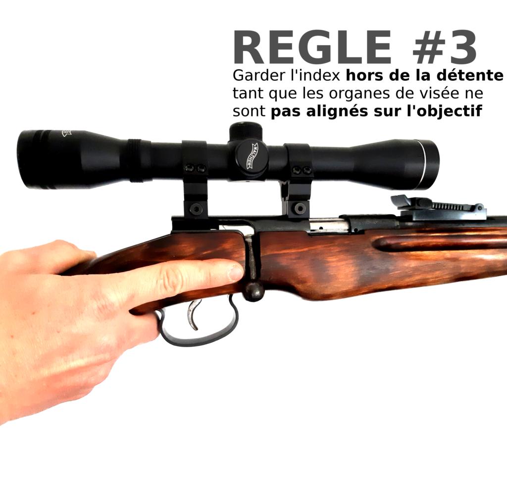 Troisième des 4 règles de sécurité avec une arme, carabine TOZ 22lr